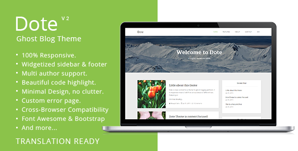 Dote - Responsive Minimal Ghost Theme - Ghost Themes Blogging