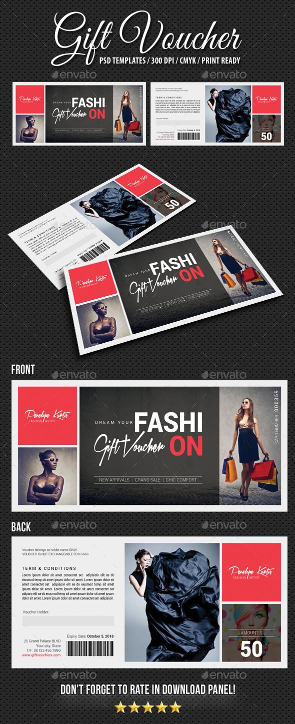 Gift Voucher V15 - Cards & Invites Print Templates