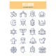 Religion Doodle Icons - GraphicRiver Item for Sale