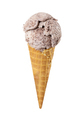 Ice cream with chocolate chips in waffle cone isolated on white - PhotoDune Item for Sale