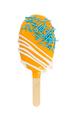 Cake pops in orange glaze in form of ice cream isolated on white - PhotoDune Item for Sale