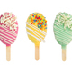 Set of different сake pops in form of ice cream isolated on whi - PhotoDune Item for Sale