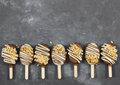 Cake pops in chocolate glaze in form of ice cream - PhotoDune Item for Sale