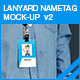 Lanyard Nametag Mock-up v2 - GraphicRiver Item for Sale
