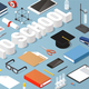 Back to School Isometric Illustration