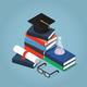 Isometric College Education Illustration