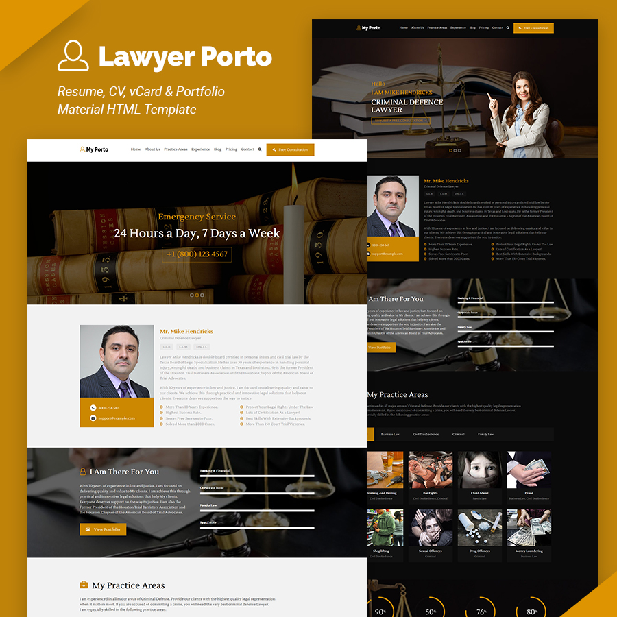 My Porto- Resume and vCard HTML Template - 7
