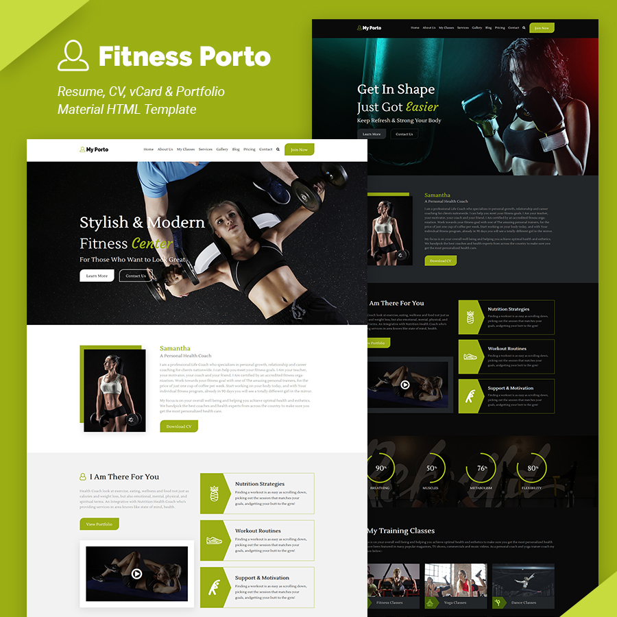 My Porto- Resume and vCard HTML Template - 8