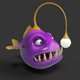 Angler Cartoon Fish