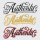Authentic Hand Drawn Lettering