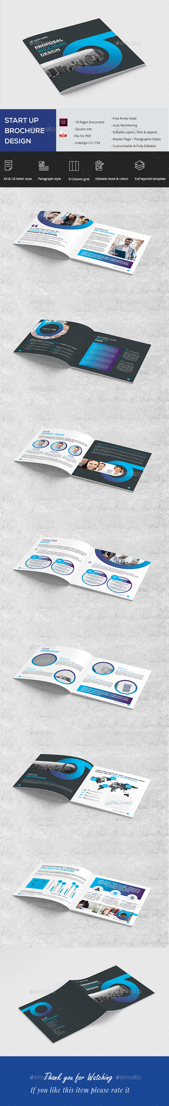 Square Proposal Brochure - Brochures Print Templates
