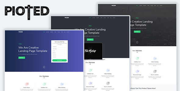 Pioted - Responsive Bootstrap 4 Landing Template by ThemesBoss