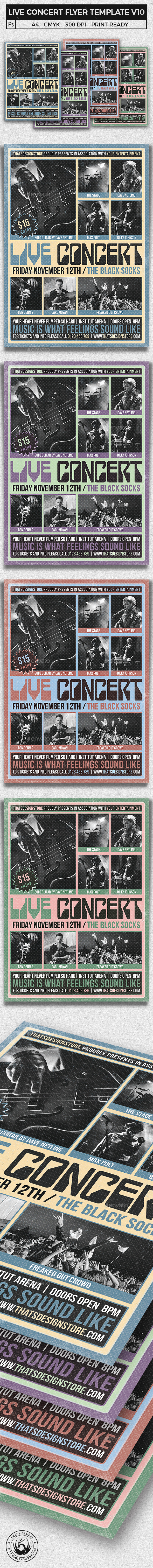 Live Concert Flyer Template V10 - Concerts Events