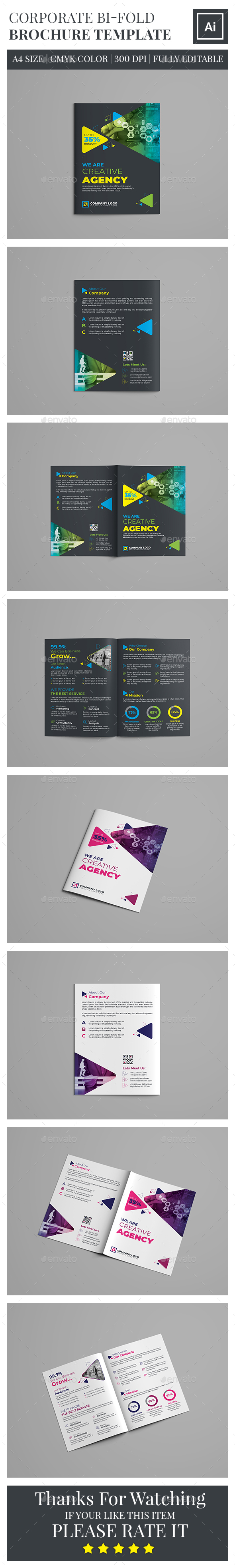 Corporate Bifold Brochure Template By Zahidhossainalif GraphicRiver - Corporate brochure template