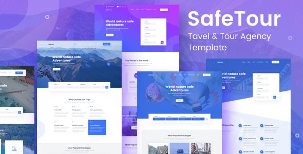 SafeTour - Travel & Tour Agency Booking Template - Travel Retail