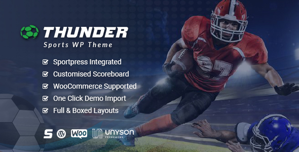 Thunder - Sports News & Magazine WordPress Theme