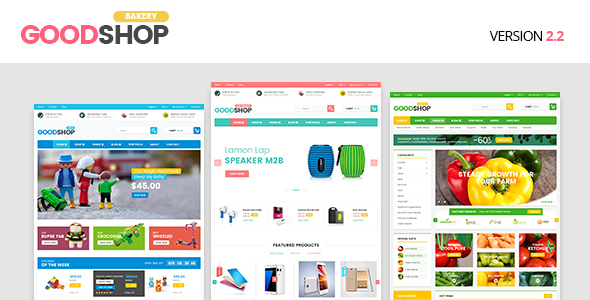 Good Shop Bakery Food Coffe, Fashion, Electronics and Toys - RTL WooCommerce Theme