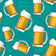 Realistic Detailed 3d Beer Mug Seamless Pattern Background. Vector - GraphicRiver Item for Sale
