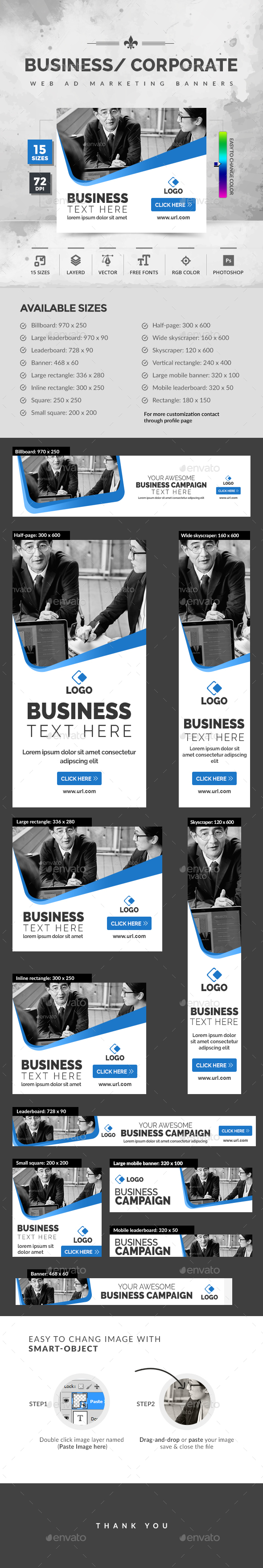 Business Banners - Banners & Ads Web Elements