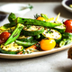 Charred Zucchini with French bean,Okra and Cherry Tomato - PhotoDune Item for Sale
