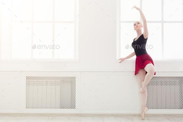 Beautiful ballerina dance on pointe Stock Photo by Prostock-studio