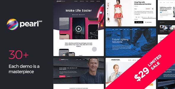 Pearl - Multipurpose & Corporate Business WordPress Theme