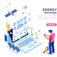 Energy Network Web Page Banner - GraphicRiver Item for Sale