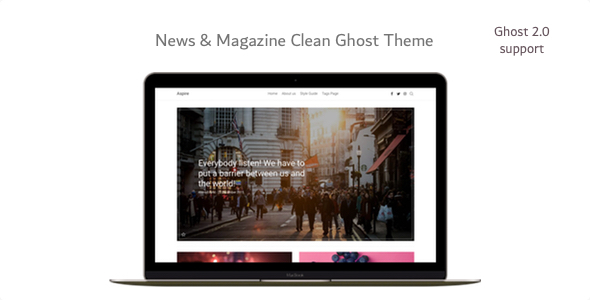 Aspire - News & Magazine Clean Ghost Theme - Ghost Themes Blogging