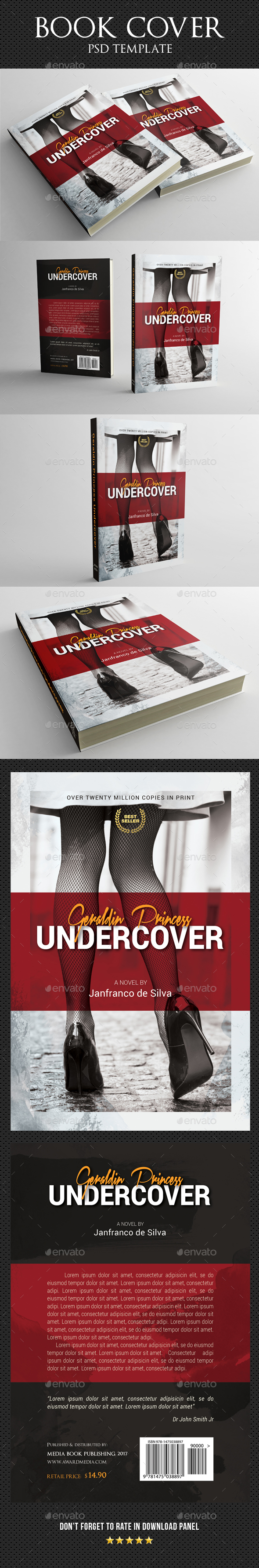 Book Cover Template 53 - Miscellaneous Print Templates