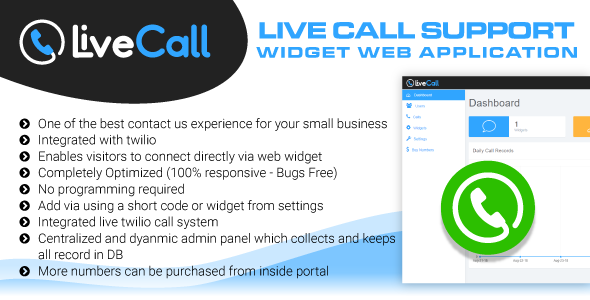 Live Call Support Widget Software - Online Calling Web Application - CodeCanyon Item for Sale