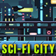Sci Fi City - Game Background - Side Scrolling - GraphicRiver Item for Sale