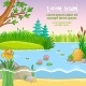 Vector Background Illustration with Nature
