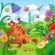 Vector Illustration with an Anthill and Insects - GraphicRiver Item for Sale