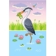 Vector Illustration with a Bird in Cartoon Style - GraphicRiver Item for Sale