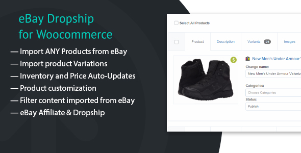 eBay Dropship for WooCommerce - CodeCanyon Item for Sale