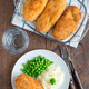 Chicken Kiev, ukrainian cuisine. Chicken cutlets in bread crumbs - PhotoDune Item for Sale
