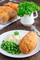 Chicken Kiev, ukrainian cuisine. Chicken cutlets in bread crumbs - PhotoDune Item for Sale
