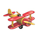 Cartoon Red and Yellow Vintage Plane