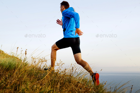 run up mountain autumn - Stock Photo - Images