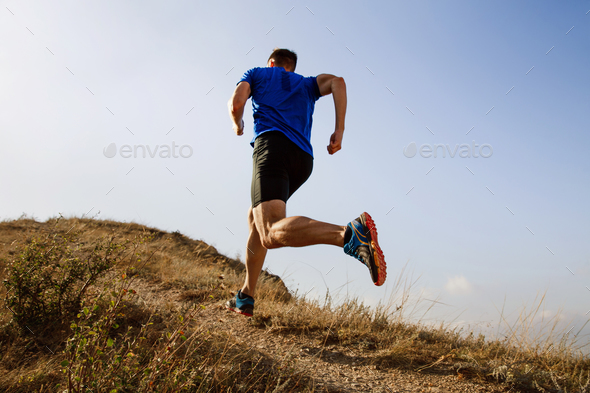 running autumn trail  - Stock Photo - Images