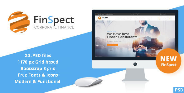FinSpect - Business PSD Template - Business Corporate