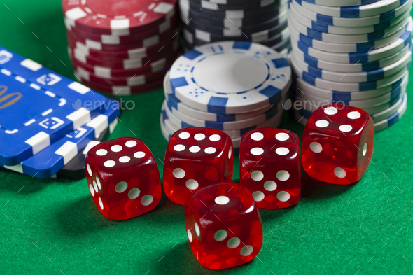 Green Poker Table - Stock Photo - Images