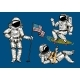 Astronaut Soaring with the USA Flag - GraphicRiver Item for Sale