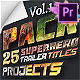 25 SuperHero Titles Pack Mogrt - VideoHive Item for Sale