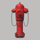 Low Poly Fire Hydrant - 3DOcean Item for Sale