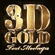 3D Gold Text Effects Bundle - GraphicRiver Item for Sale