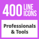 400 Professionals & their tools Line Icons
