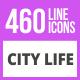 460 City Life Line Icons