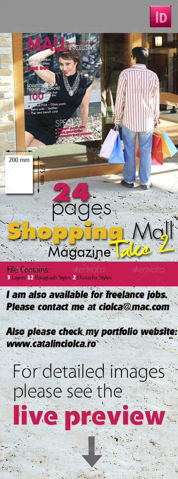 24 Pages Shopping Mall Magazine Take Two - Magazines Print Templates