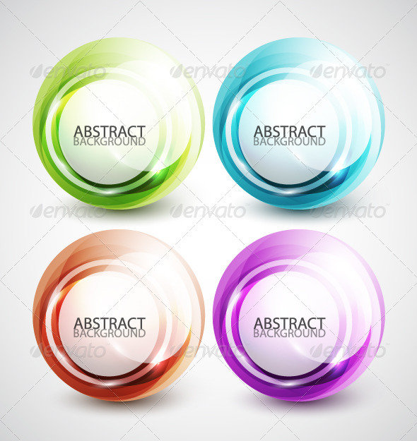 Glossy Bubbles - Web Elements Vectors